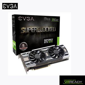 EVGA 艾維克 GTX1070 8GB SC ACX3.0 顯示卡 (8G-P4-6173-KR)