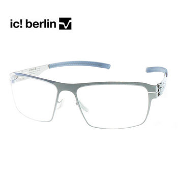 【ic!berlin 光學眼鏡】正品德國柏林薄鋼設計-銀-加大版(ALBULA-CHROME)