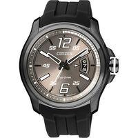 CITIZEN Eco #45 Drive 光動能競速 風格腕錶 #45 灰x黑 #47