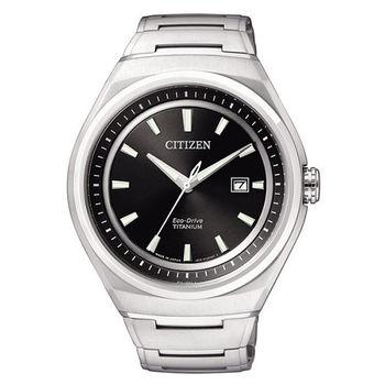 CITIZEN Eco-Drive 創新世紀超級鈦光動能腕錶(黑/42mm) AW1251-51E
