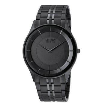 CITIZEN Eco-Drive 簡約輕盈光動能腕錶(IP黑/36mm) AR3015-61E