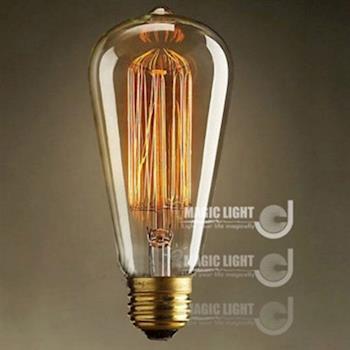 【光的魔法師 Magic Light】2入 愛迪生燈泡複古光源 E27(創意藝術懷舊經典鎢絲燈泡 錐形)