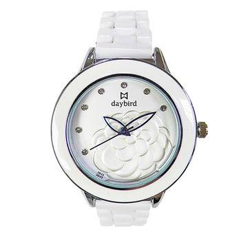 【DAYBIRD】經典山茶花璀璨晶鑽腕錶