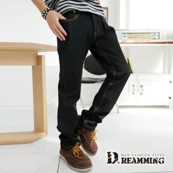 【Dreamming】韓風原色彈力小直筒牛仔褲(黑色)