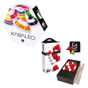 【 法國桌神 Gigamic 益智遊戲 】KABALEO 金字塔之謎+Pylos Pocket 埃及王 口袋版