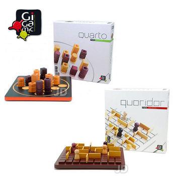 【 法國桌神 Gigamic 益智遊戲 】Quarto Mini 四連戰 迷你版+Quoridor Mini 步步為營 迷你版