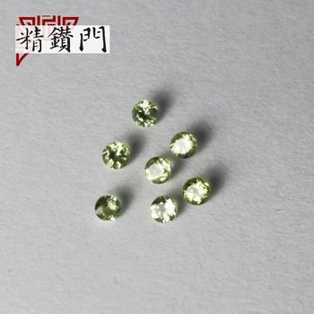 【精鑽門】圓形綠色橄欖石裸石1.7-2.2mm(60入)