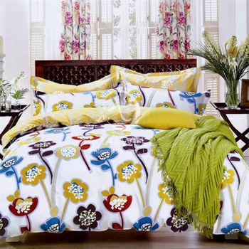 【卡莎蘭】曇花一現 雙人純棉四件式涼被床包組