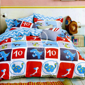 【卡莎蘭】侏羅紀公園 雙人純棉四件式涼被床包組