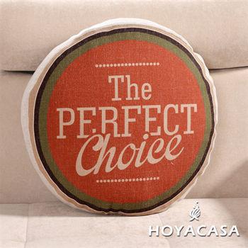 《HOYACASA 美式經典》悠閒漫步麻布沙發抱枕靠墊