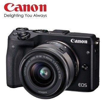 [64G+清潔收納組]【Canon】EOS M3+15-45mm 廣角變焦組  (公司貨)