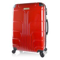 ~Luggagezone~旅遊家24吋PC鏡面防水拉鍊海關鎖行李箱 ^#47 旅行箱