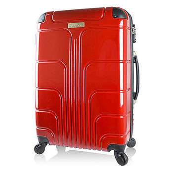 【Luggagezone】旅遊家24吋PC鏡面防水拉鍊海關鎖行李箱/旅行箱