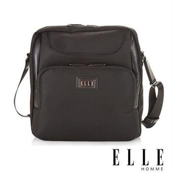 【ELLE HOMME】優雅貴族‧IPAD置物層收納設計休閒側背包(黑 EL83382-02)