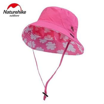 【Naturehike】迷彩潮流款速乾透氣漁夫帽/遮陽帽/防曬帽 (花朵桃紅)