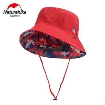 【Naturehike】迷彩潮流款速乾透氣漁夫帽/遮陽帽/防曬帽 (迷彩大紅)