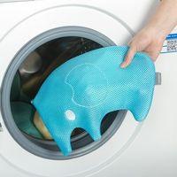 窩自在~繡花可愛動物防變形內衣褲 加厚洗衣袋 ^#40 大象款 ^#41 ^#45 藍色