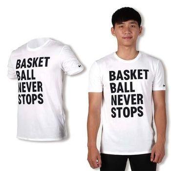 【NIKE】男短袖針織衫-T恤 慢跑 路跑 短T 白黑
