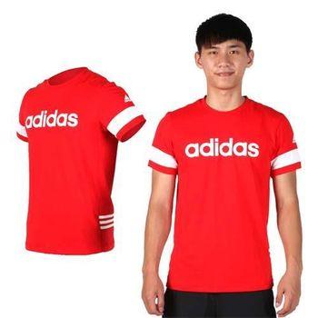 【ADIDAS】男短袖T恤-圓領 棉T 愛迪達 紅白