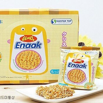【韓國Enaak】香脆點心麵 隨手包 2盒(30小包/盒)