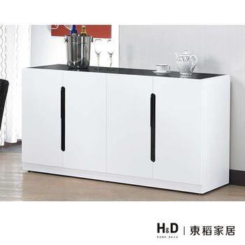 【H&D】安佐5尺白色餐櫃