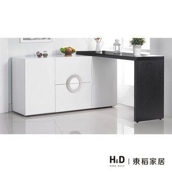【H&D】帕克5尺白色伸縮餐櫃