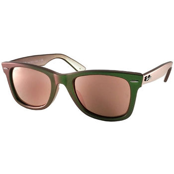 【Ray Ban 雷朋】2140F-6109/Z2-小版 雷朋太陽眼鏡 (雙色鏡框#水銀橘鏡面)