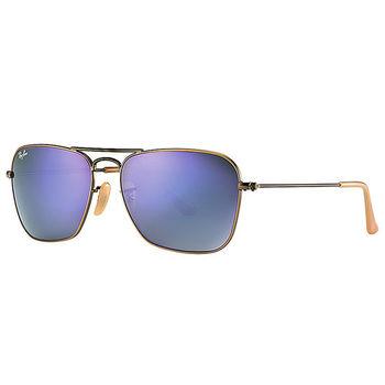 【Ray Ban 雷朋】3136-167/68 水銀款太陽眼鏡(銅色鏡框#水銀藍紫鏡面)