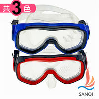 SANQI三奇 泳鏡 海灘 全罩含鼻架泳鏡 ^#40 02 ^#45 共3色 ^#41