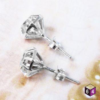 ART64  耳環 鑽石 925純銀 寶石