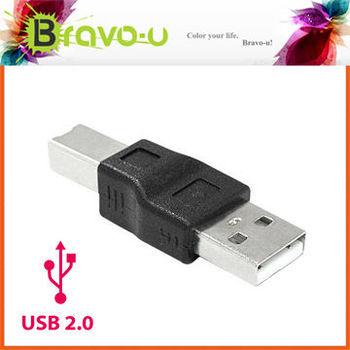 Bravo-u USB 2.0 A公對B公 印表機轉接頭