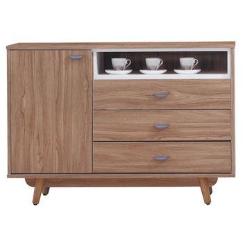【顛覆設計】拉蘿4尺柚木色餐櫃