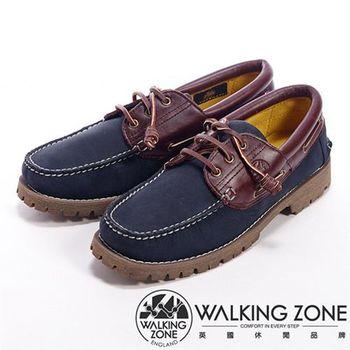 WALKING ZONE 經典英倫學院風雷根鞋男鞋-藍