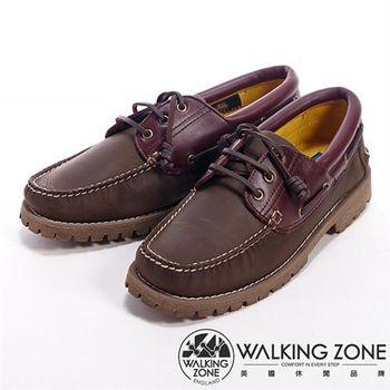 WALKING ZONE 經典英倫學院風雷根鞋男鞋-咖