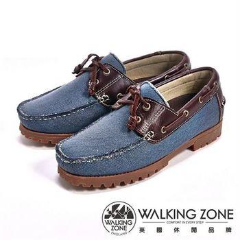 【WALKING ZONE】情侶款復刻拼接雷根鞋(藍色) -男鞋_(男女款尺寸皆有)