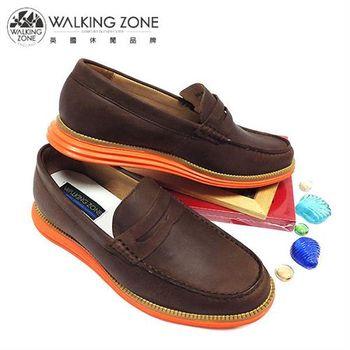 WALKING ZONE 率性雅痞風休閒鞋-棕(另有藍)