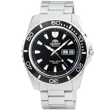 ORIENT 東方錶潛水機械鋼帶錶-黑 / FEM75001B (原廠公司貨)