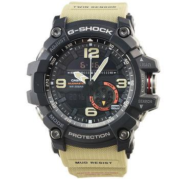 CASIO 卡西歐G-SHOCK 雙顯鬧鈴電子錶-黑棕 / GG-1000-1A5