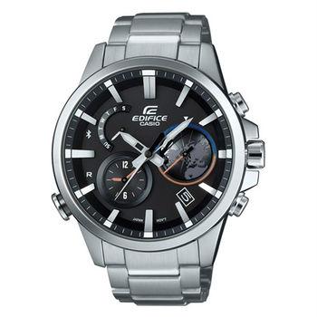 CASIO EDIFICE 全新藍牙爭霸戰智慧再進化運動錶款-銀-EQB-600D-1A