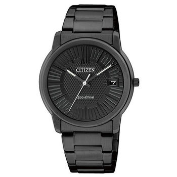 CITIZEN Eco-Drive 靜謐時光光動能腕錶(IP黑/32mm) FE6015-56E