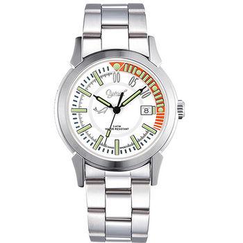 Ogival 瑞士愛其華-夜鷹系列造型氚氣腕錶-白 3696MS