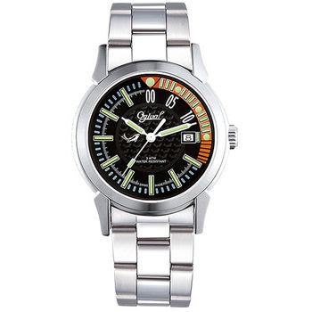 Ogival 瑞士愛其華-夜鷹系列造型氚氣腕錶-黑 3696MS