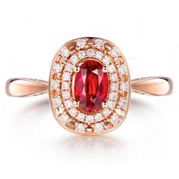 MAYMOON  紅色盛宴-天然紅寶石1ct戒指(18K)
