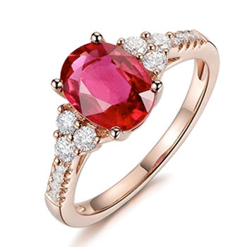 MAYMOON  紅色盛宴-天然紅寶石2ct戒指(18K)