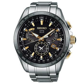 SEIKO ASTRON GPS 鈦 衛星太陽能翱翔霸主電波腕錶(SSE073J1)-45mm/8X53-0AB0K