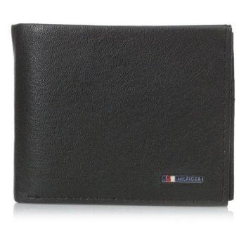 Tommy Hilfiger 2016男時尚Lloyd銘牌標識雙折黑色皮夾(預購)
