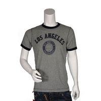 UNIQLO 灰色美式圖騰 貼布繡文字短袖圓領T ^#45 shirt