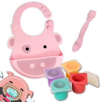 【MARCUS&MARCUS】寶貝的第一套餐具組-小豬