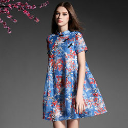 歐風KEITH-Will甜美櫻花盤扣寬鬆短洋裝