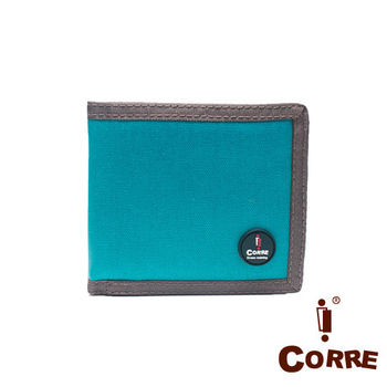 CORRE - 自我風格MIT原色系左右翻對折短夾-共2色